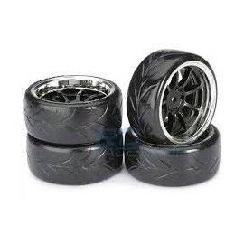 RUEDAS Drift Wheels 9-Spoke black-chrome Profil A
