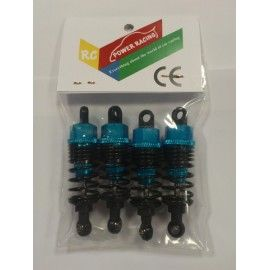 KIT AMORTIGUADORES REGULABLES  65 mm. AZULES