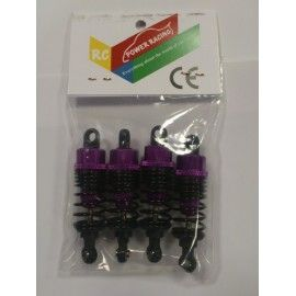 KIT AMORTIGUADORES REGULABLES 65 mm PURPLE