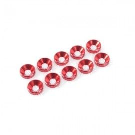 ARANDELAS CONICAS 4 MM ROJO
