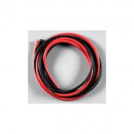 CABLE SILICONA 14 AWG - 1 m - Negro + Rojo