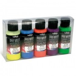 SET DE COLORES FLUORESCENTES PREMIUN