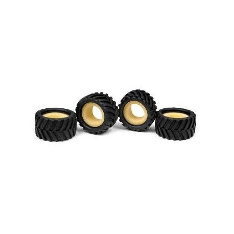 MICRO MONSTER TRUCK TIRE & INSERT - CHEVRON (4+4)